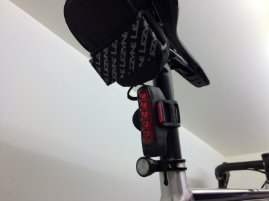 Orro own rear LED with Lezyne Strip Drive and Caddy bag...